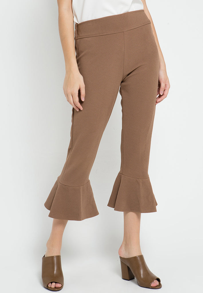 Cropped Flared Pants, Pants, Meitavi's