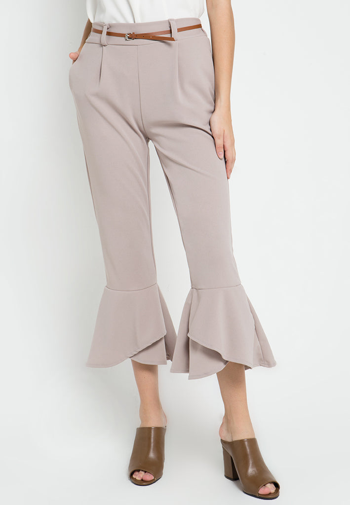 Trumpet Cropped Pants