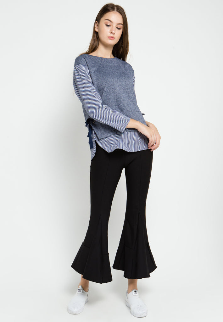 Sweater Striped Top, Pants, Meitavi's