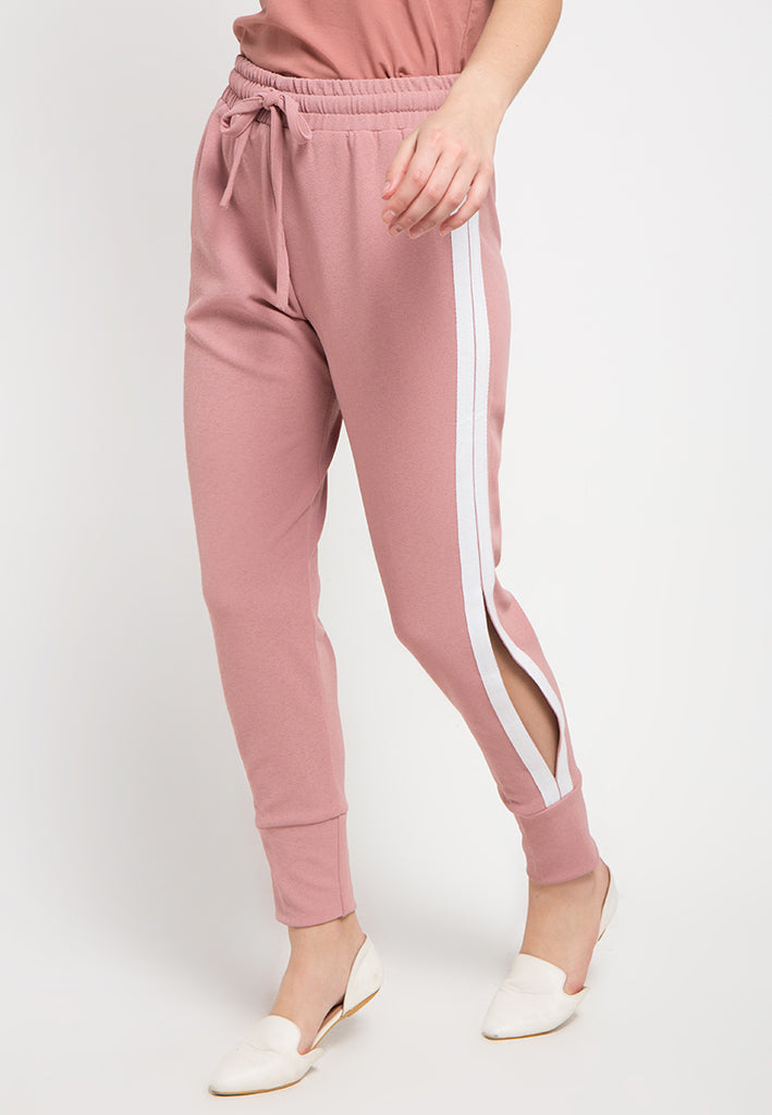 Side Slit Contrast Pants