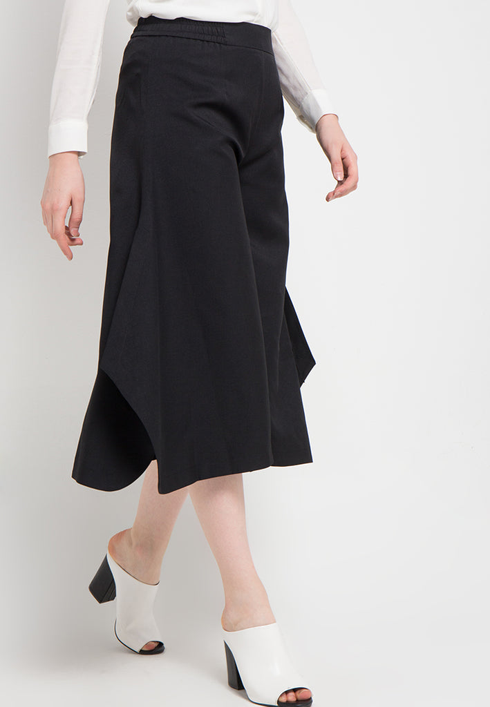 Side Slit Flared Culottes, Pants, Meitavi's