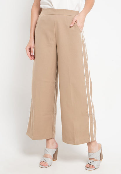 Side Striped Maxi Culottes, Pants, Meitavi's