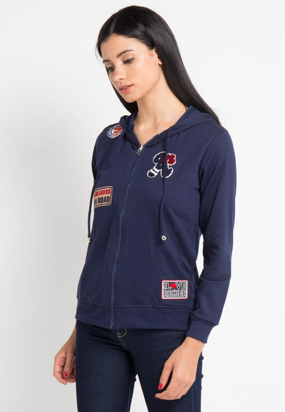 Applique Zip Up Hoodie Jacket, Jacket, Meitavi's