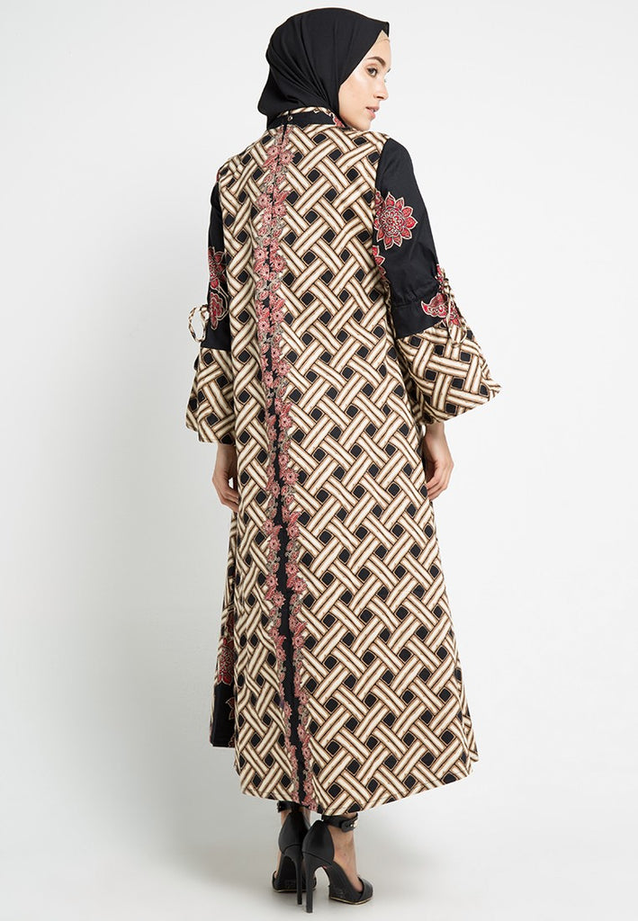 Trumpet Sleeved Batik Gamis Dress, Gamis, Meitavi's