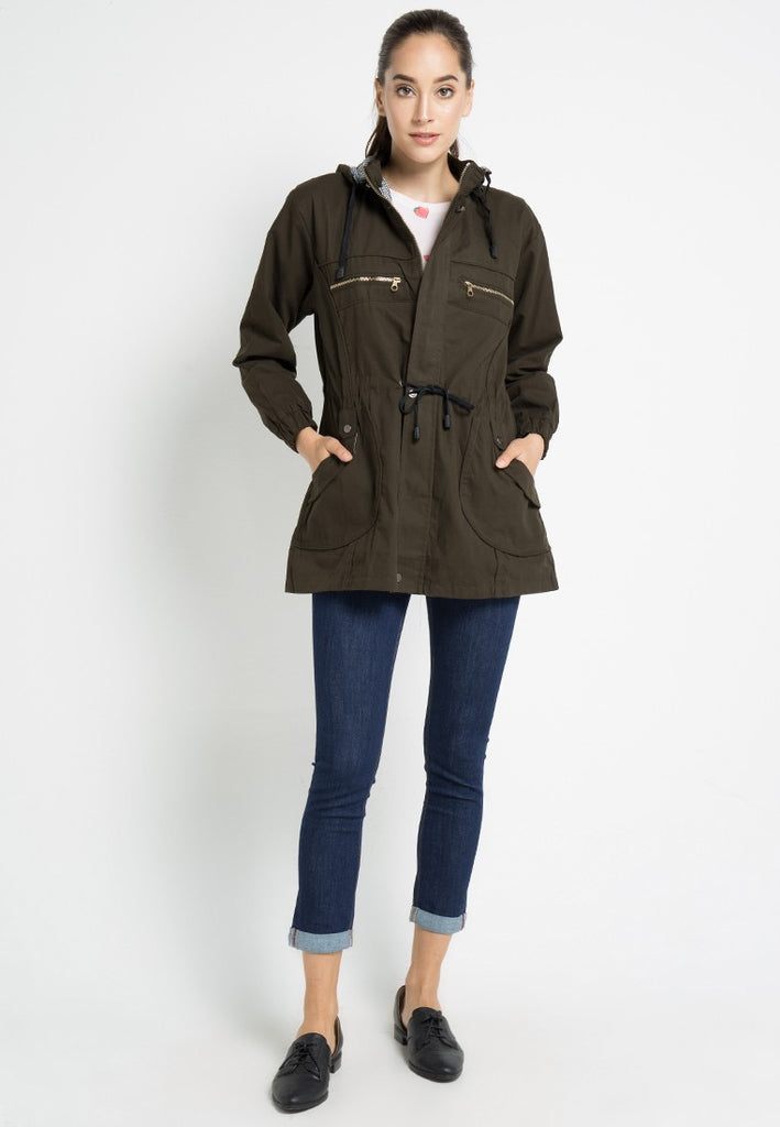 Canvas Parka Coat, Jacket, Meitavi's