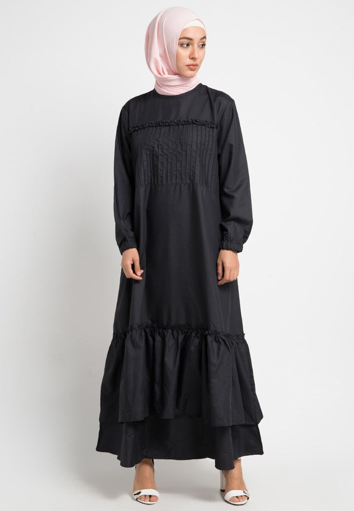 Pleats Cotton Gamis Dress, Gamis, Meitavi's