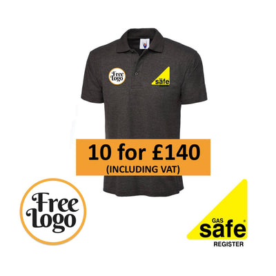 10 x Gas Safe FREE LOGO Polo Shirt Bundle #5