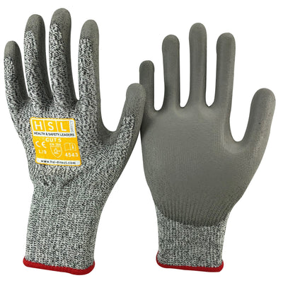 PU Gloves (CUT 5) - Grey
