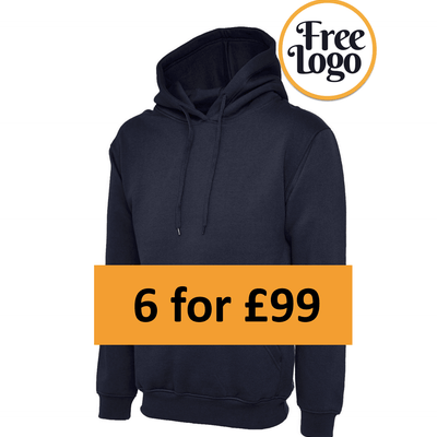 6 For £99 Premium Hooded Sweatshirt Bundle Deal