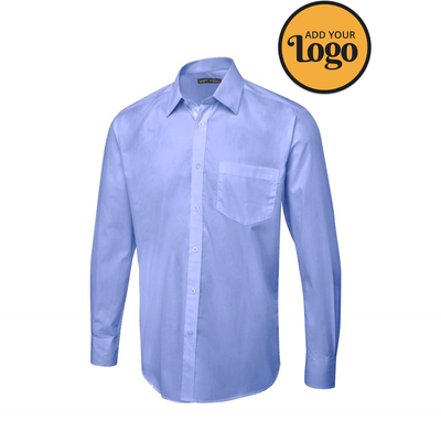 Men's Tailored Fit Long Sleeve Poplin Shirt