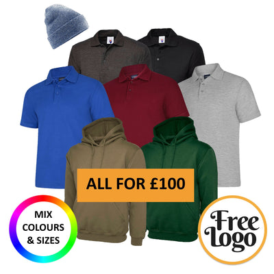 £100 Inc Vat Winter FREE LOGO Bundle #1