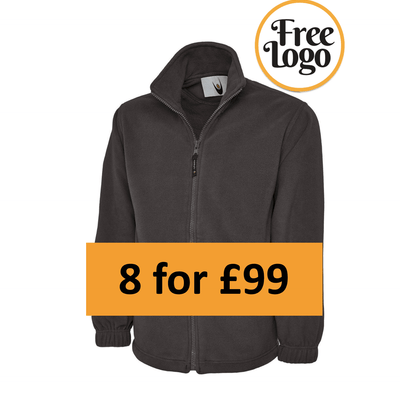 8 For £99 Classic Full Zip Fleece Jacket Bundle Deal
