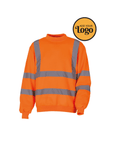 Men's High Vis Work Sweatshirt