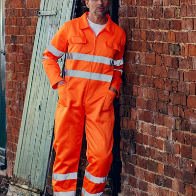 Adult's High Visibility Poly/Cotton Coverall