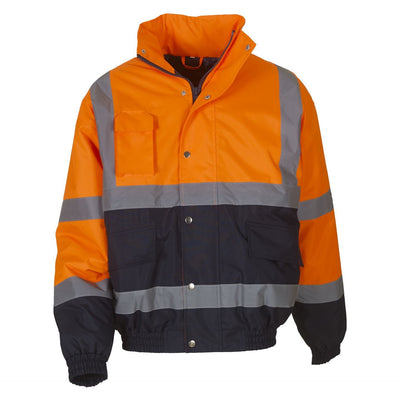 Men's High Vis Two-Tone Bomber Work Jacket
