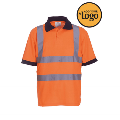 Men's High Vis Short Sleeve Work Polo Shirt