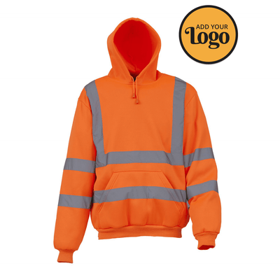 Men's High Visibility Hooded Sweatshirt