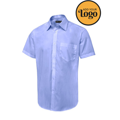 Men's Tailored Fit Short Sleeve Poplin Shirt