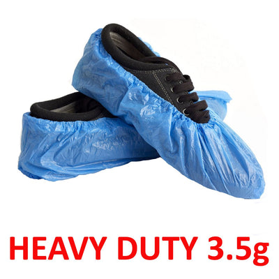 Heavy Duty Disposable Overshoes/Shoe Covers 3.5g BLUE