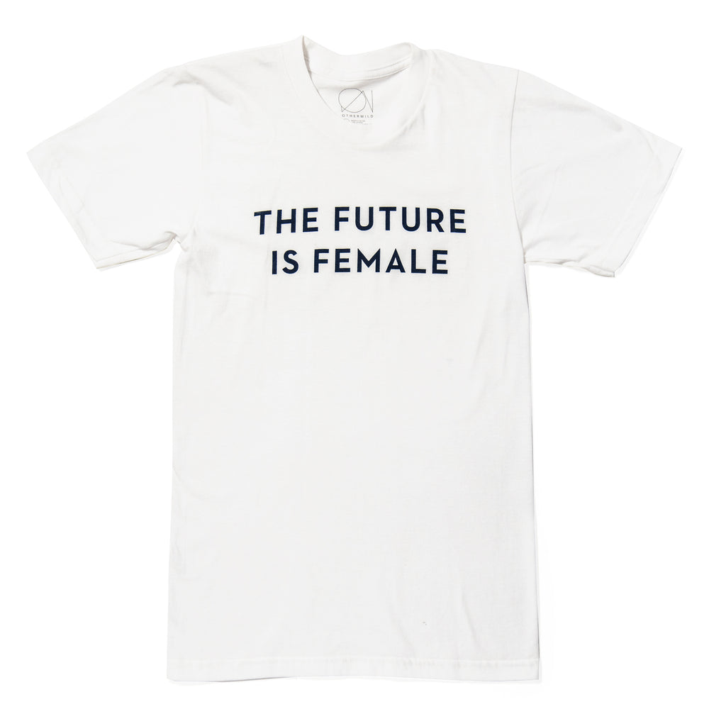 Future Is Female T-Shirt in White - Otherwild