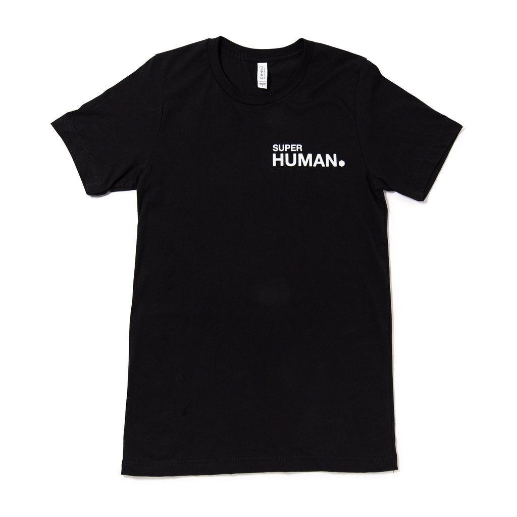 Super Human T-shirt in Black - Super Series: 2nd Generation