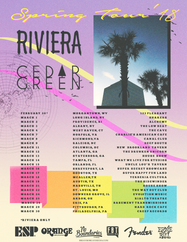 Riviera Cedar Green Spring March 2018 Tour