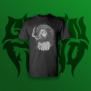 Green Fiend Jesus T-shirt - Black