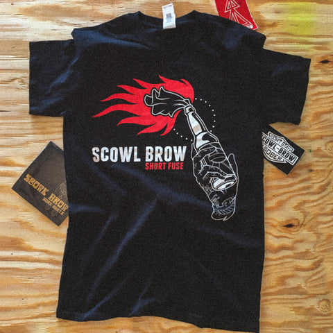 Scowl Brow - Short Fuse Bottle T-Shirt