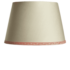 Empire lampshade in Cream Silk with Dilly Pattern