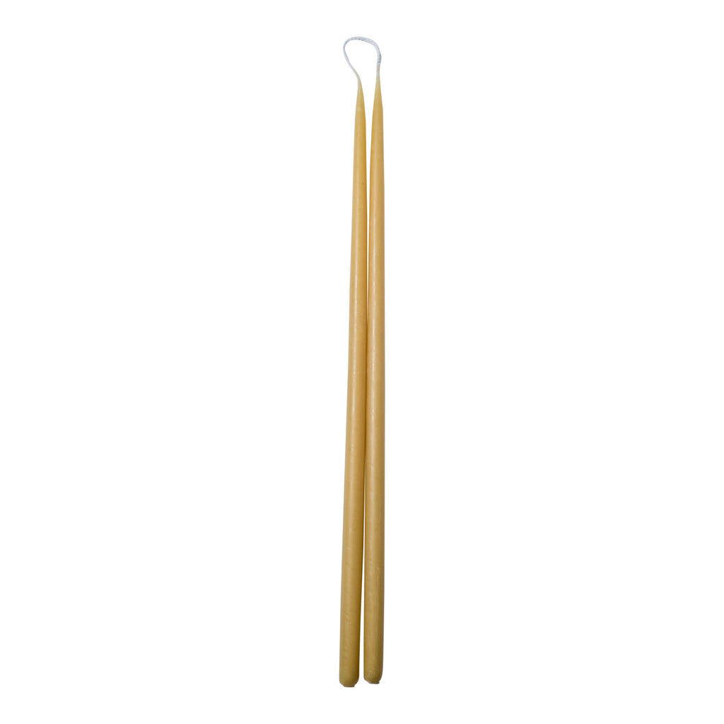 Long Thin Taper Beeswax Candle