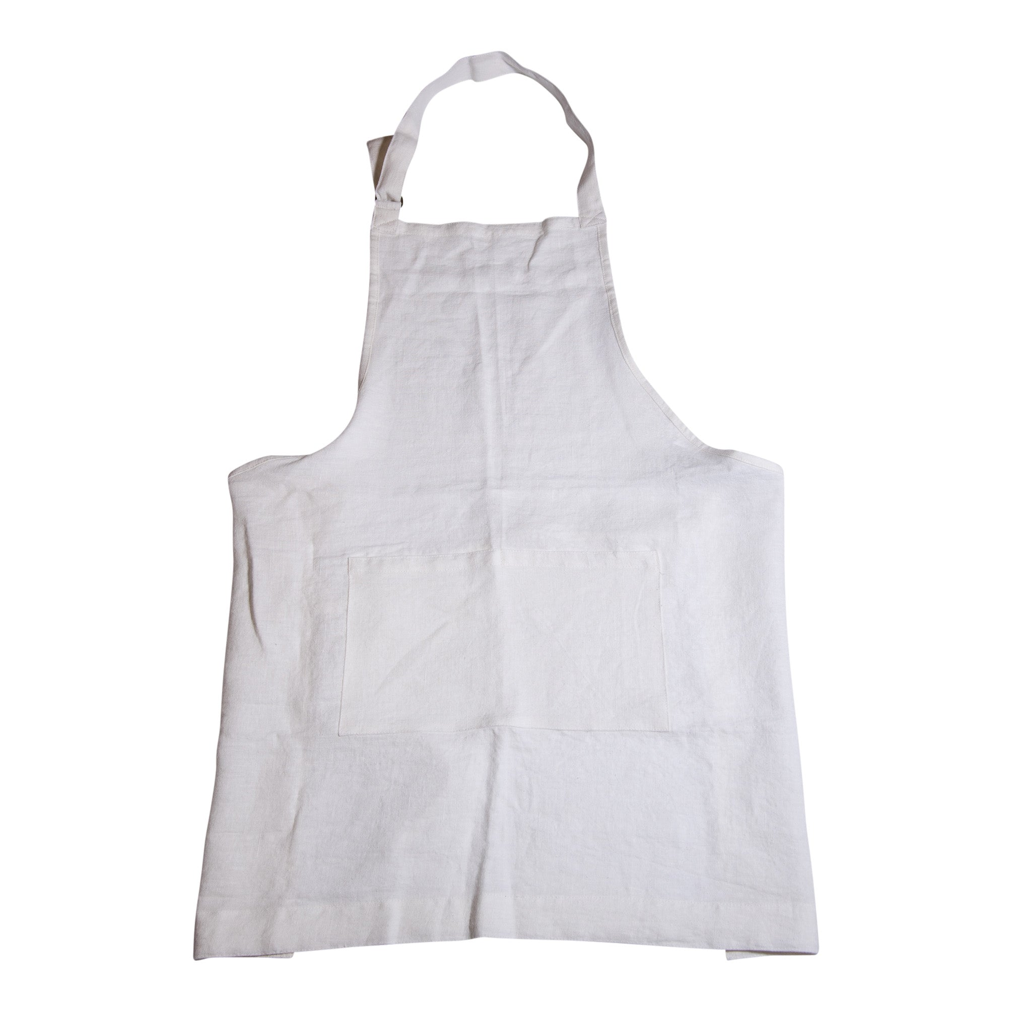 White Washed Linen Apron