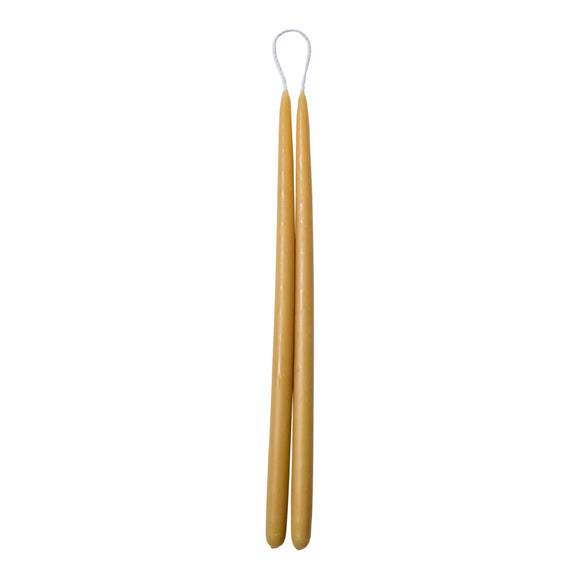 Thin Taper Beeswax Candle