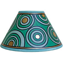 Load image into Gallery viewer, Circles Lampshade 10inch - Green, Gold