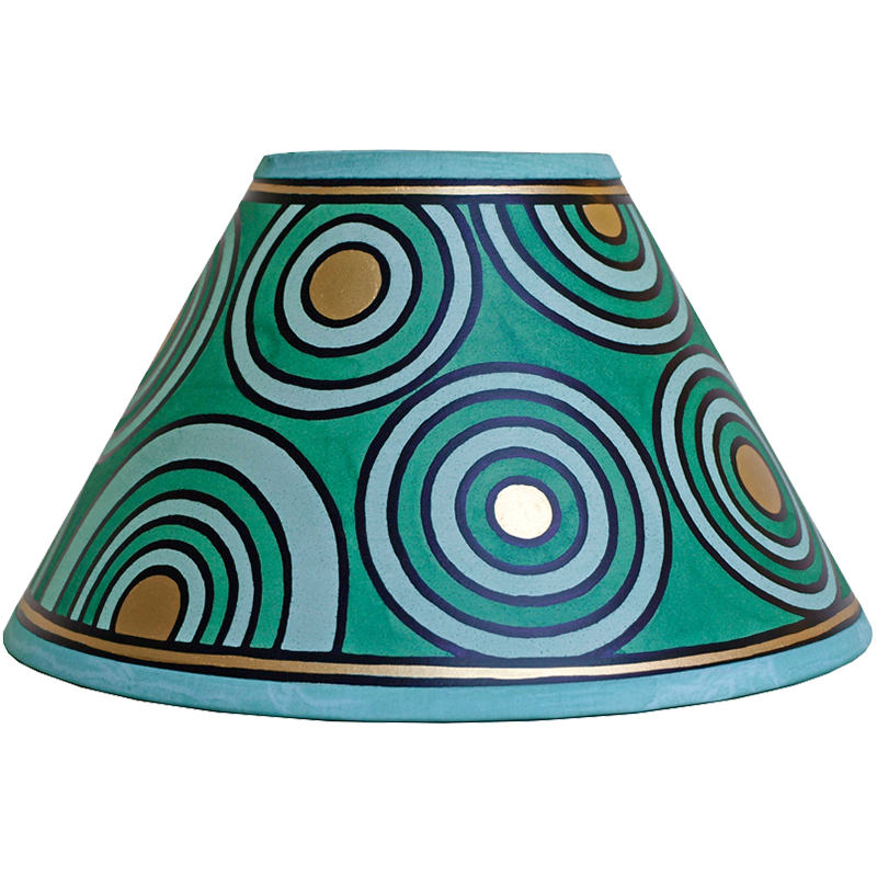 Circles Lampshade 10inch - Green, Gold