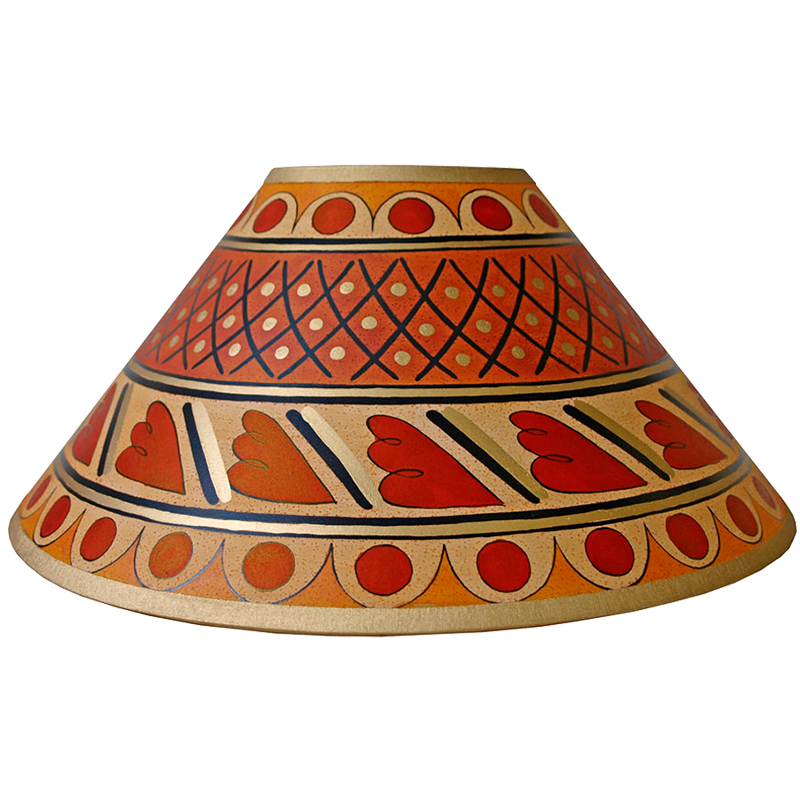 Cross Hatch Lampshade 14inch - Gold