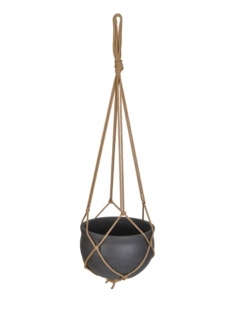 Cement Hanging Plant Pot - Carbon