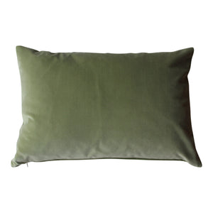 Rectangle Sage Velvet Cushion