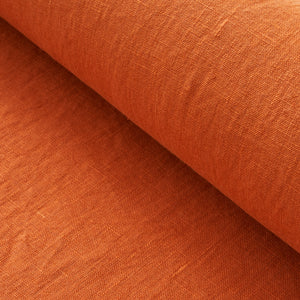 Burnt Orange Washed Linen