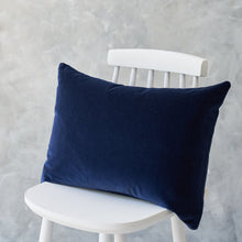 Load image into Gallery viewer, Rectangle Navy Velvet Cushion