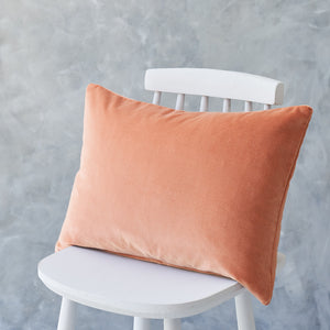 Long Terracotta Velvet Cushion
