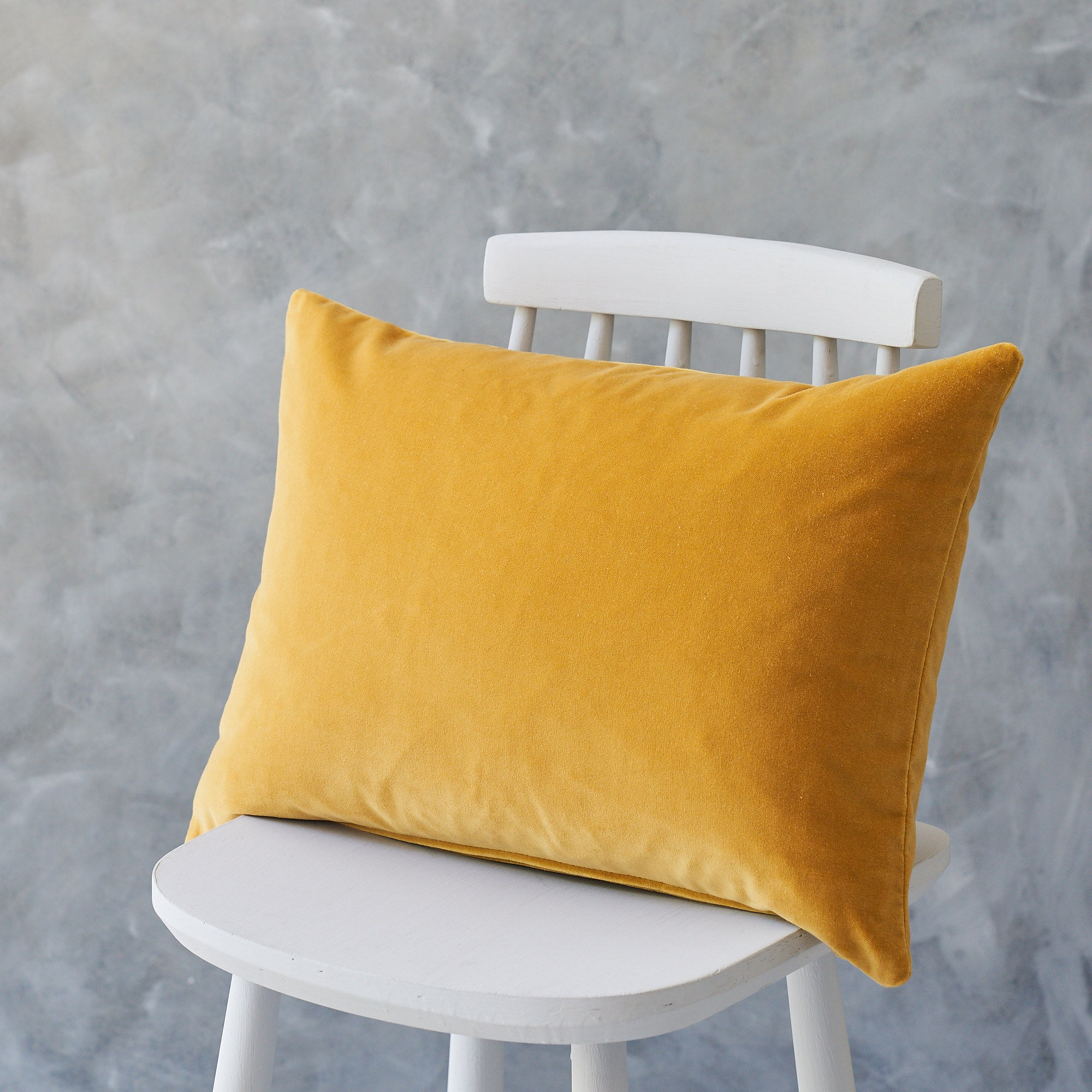 Long Gold Velvet Cushion