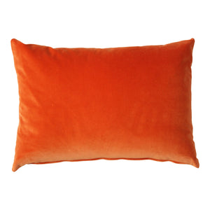 Rectangle  Tangerine Velvet Cushion