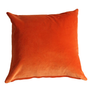 Tangerine Velvet Cushion