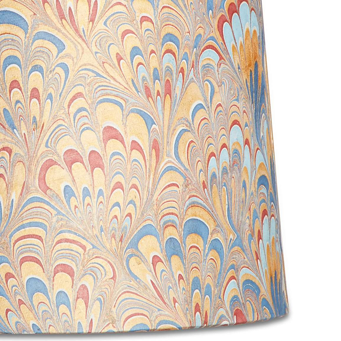 Marble Paper Lampshade in Gold & Pink