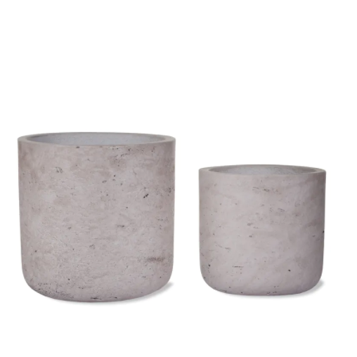 Cement Straight Plant Pot in Stone