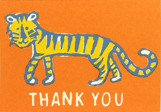 card thank you little tiger