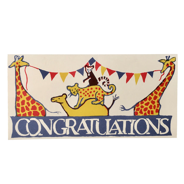 Circus Congratulations, Greetings Card