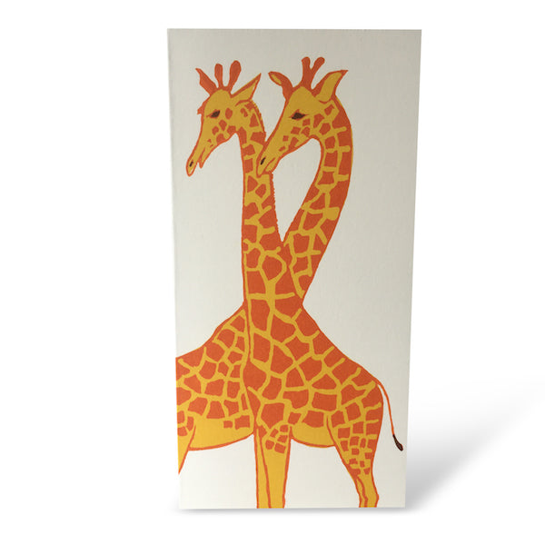 Giraffes, Greetings Card