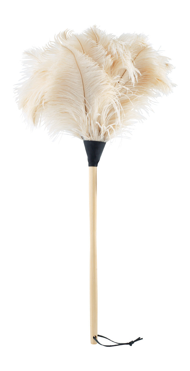 Medium White Ostrich Feather Duster (currently only available for store collection)