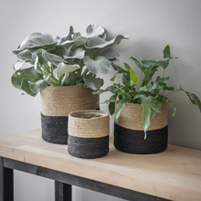 Load image into Gallery viewer, Woven Jute Plant Pots - Monochrome